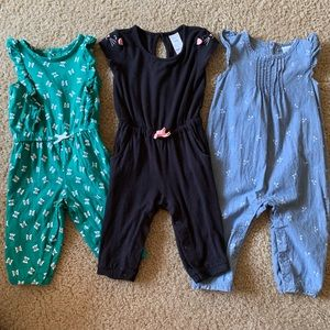 Baby girl Carters long jumper bundle size 6 months